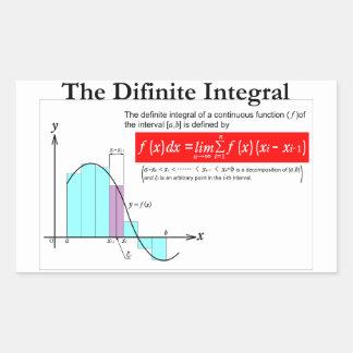 The Definite Integral 長方形シールステッカー