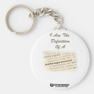 The Definition Of An Entrepreneur Basic Round Button Keychain
