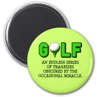 THE DEFINITION OF GOLF 2 INCH ROUND MAGNET