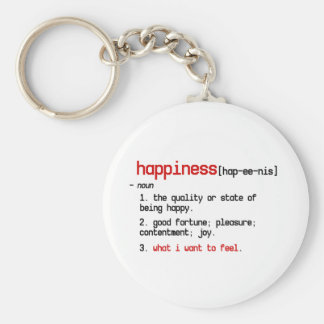 the definition of happiness keychain