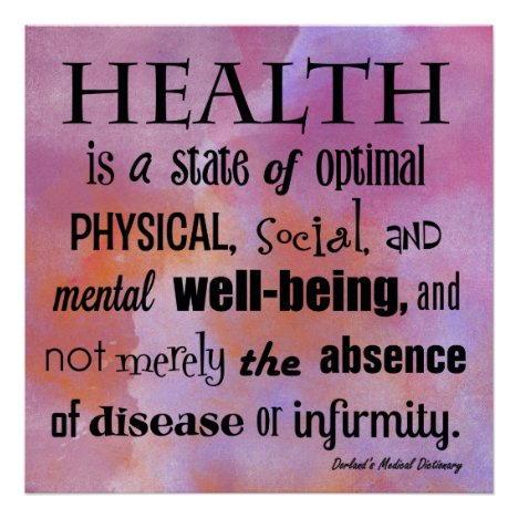 The Definition of Health Chiropractic Poster
