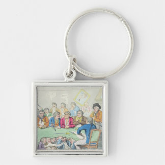 The delegates in council or beggars on horseback keychain