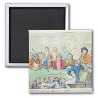 The delegates in council or beggars on horseback fridge magnet