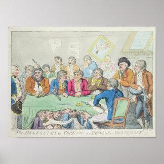 The delegates in council or beggars on horseback poster