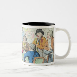 The delegates in council or beggars on horseback Two-Tone coffee mug