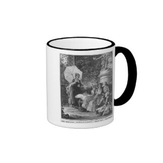 The delights of motherhood ringer coffee mug