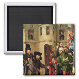 The Deliverance of the Prisoners, c.1470 2 Inch Square Magnet