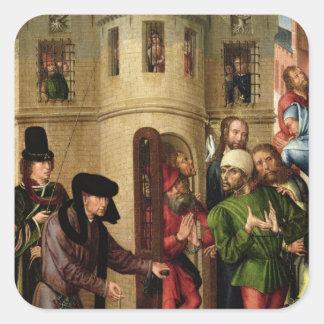 The Deliverance of the Prisoners, c.1470 Square Sticker