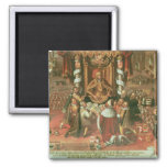 The Delivery of the Augsburg Confession 2 Inch Square Magnet