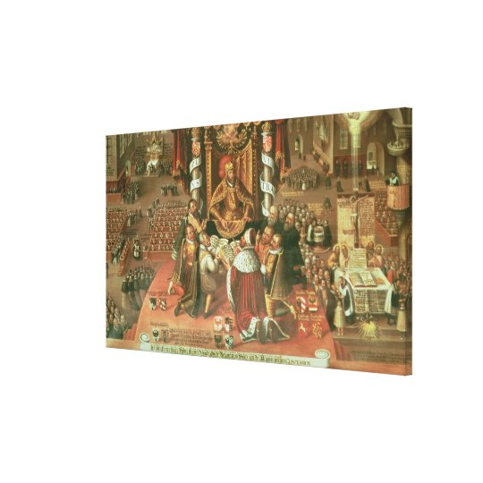 The Delivery of the Augsburg Confession Canvas Print