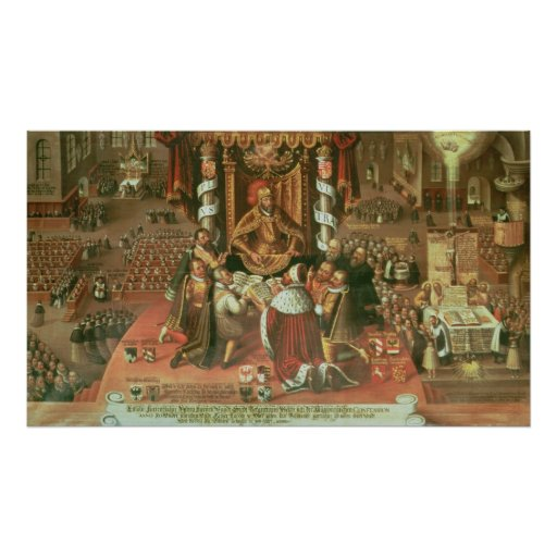 The Delivery of the Augsburg Confession Poster