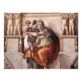 The Delphic Sibyl - Fresco Sistine Chapel Postcard
