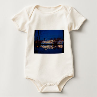 The Delta King at night - Sacramento, CA Baby Bodysuit