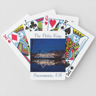 The Delta King at night - Sacramento, CA Bicycle Playing Cards