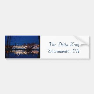 The Delta King at night - Sacramento, CA Car Bumper Sticker