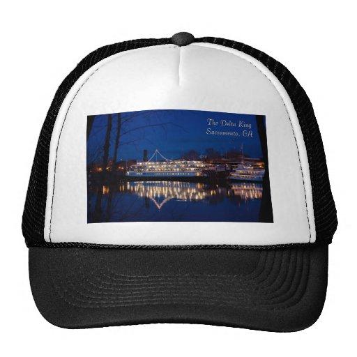The Delta King at night - Sacramento, CA Hats