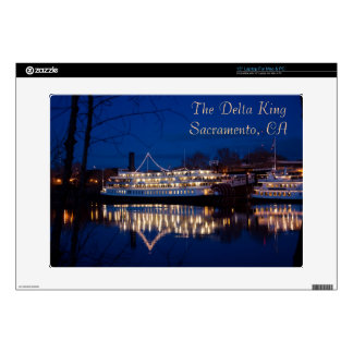 The Delta King at night - Sacramento, CA Laptop Decal
