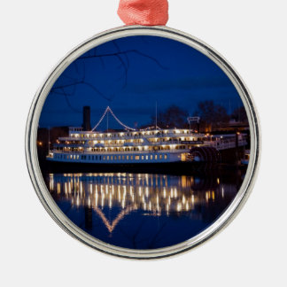 The Delta King at night - Sacramento, CA Metal Ornament