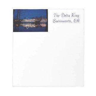 The Delta King at night - Sacramento, CA Notepad