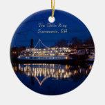 The Delta King at night - Sacramento, CA Christmas Ornament