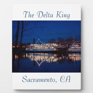 The Delta King at night - Sacramento, CA Plaques
