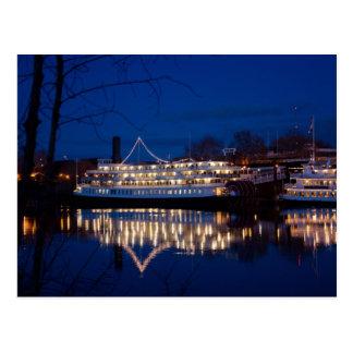 The Delta King at night - Sacramento, CA Postcard