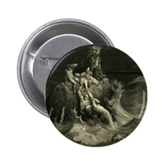 The Deluge by Gustave Dore based on Noah's Ark 2 Inch Round Button