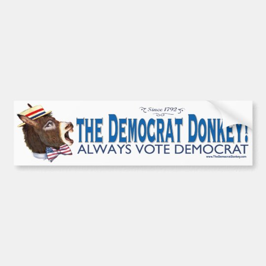 The Democrat Donkey  Bumper Sticker