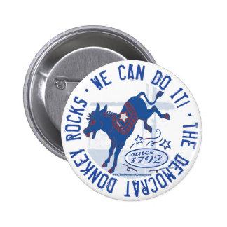 The Democrat Donkey Rocks Button