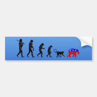 The Democratic Theory of Devolution Car Bumper Sticker