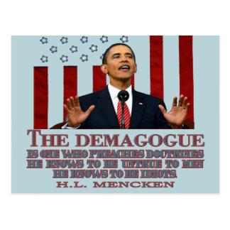 The Demogogue- Obama sure fits Postcards