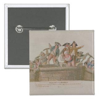 The Demolition of the Bastille, July 1789 Pinback Button
