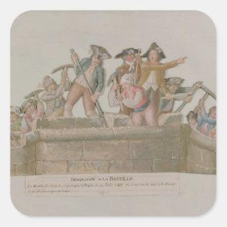 The Demolition of the Bastille, July 1789 Square Sticker