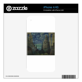 The Demon by Mikalojus Ciurlionis Decals For The iPhone 4S