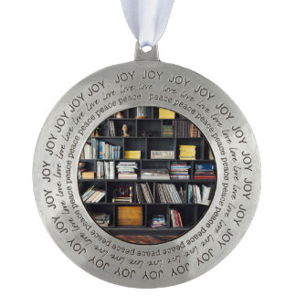 The Den Round Pewter Christmas Ornament