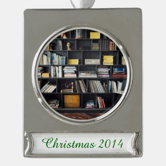 The Den Silver Plated Banner Ornament