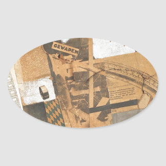 The denaturalized material. Destruction 2. by Theo Oval Sticker