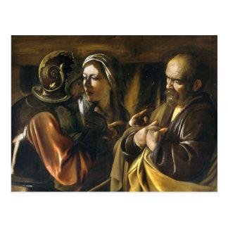 The Denial of Saint Peter - Caravaggio Postcard