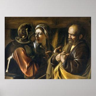 The Denial of Saint Peter - Caravaggio Poster