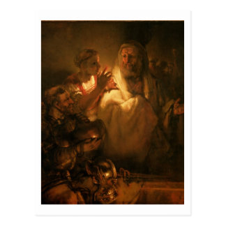 The Denial of St. Peter, 1660 (oil on canvas) Postcard