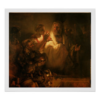 The Denial of St. Peter, 1660 (oil on canvas) Poster