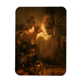 The Denial of St. Peter, 1660 (oil on canvas) Rectangular Photo Magnet