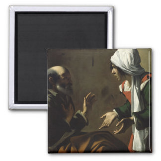 The Denial of St. Peter 2 Inch Square Magnet