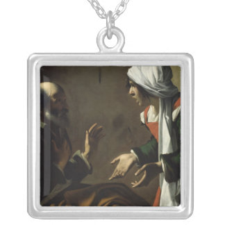 The Denial of St. Peter Square Pendant Necklace