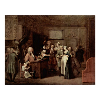 The denunciation by William Hogarth Poster