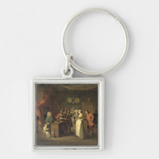 The Denunciation (oil on canvas) Keychain