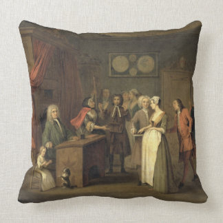 The Denunciation (oil on canvas) Throw Pillow