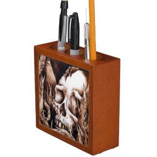 The Departed - Death's Head Desk Organizer