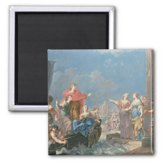 The Departure of Aeneas 2 Inch Square Magnet
