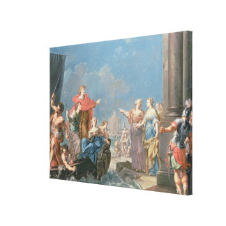 The Departure of Aeneas Canvas Print